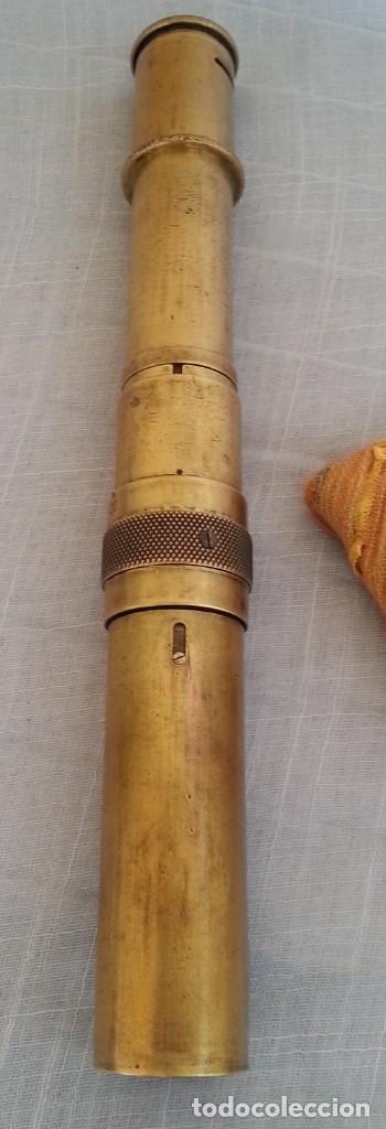 Antigüedades: Microscopio centenario de principios 1900. Pieza muy especial. - Foto 5 - 179251417