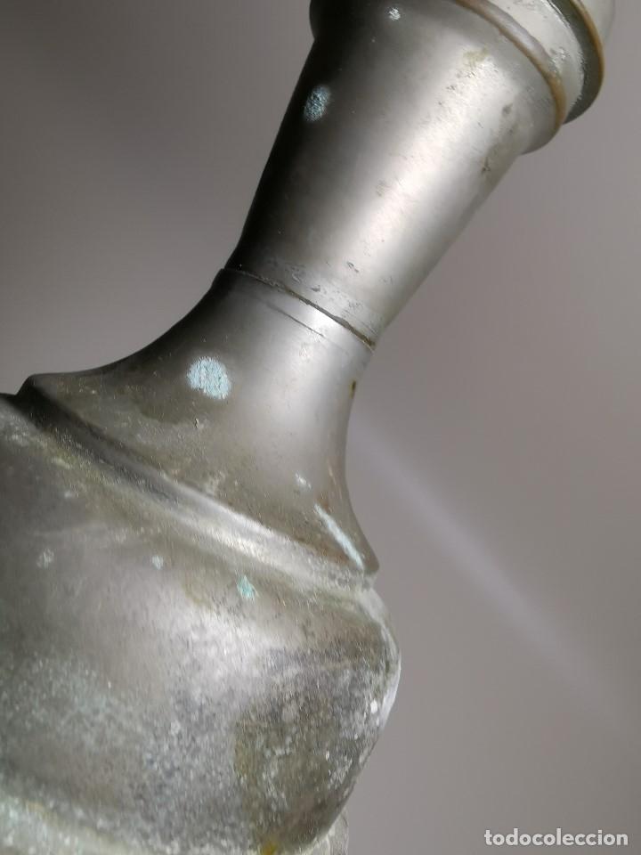 Antigüedades: BARBERÍA JARRA PARA AGUA DE LAVARCABEZAS METAL ALREDEDORES DEL AÑO 1800 BARBERO PELUQUERÍA , - Foto 7 - 179335096