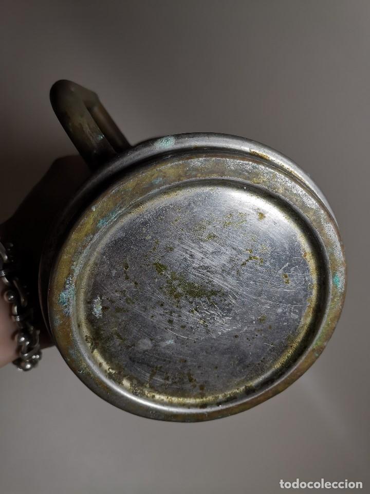 Antigüedades: BARBERÍA JARRA PARA AGUA DE LAVARCABEZAS METAL ALREDEDORES DEL AÑO 1800 BARBERO PELUQUERÍA , - Foto 10 - 179335096