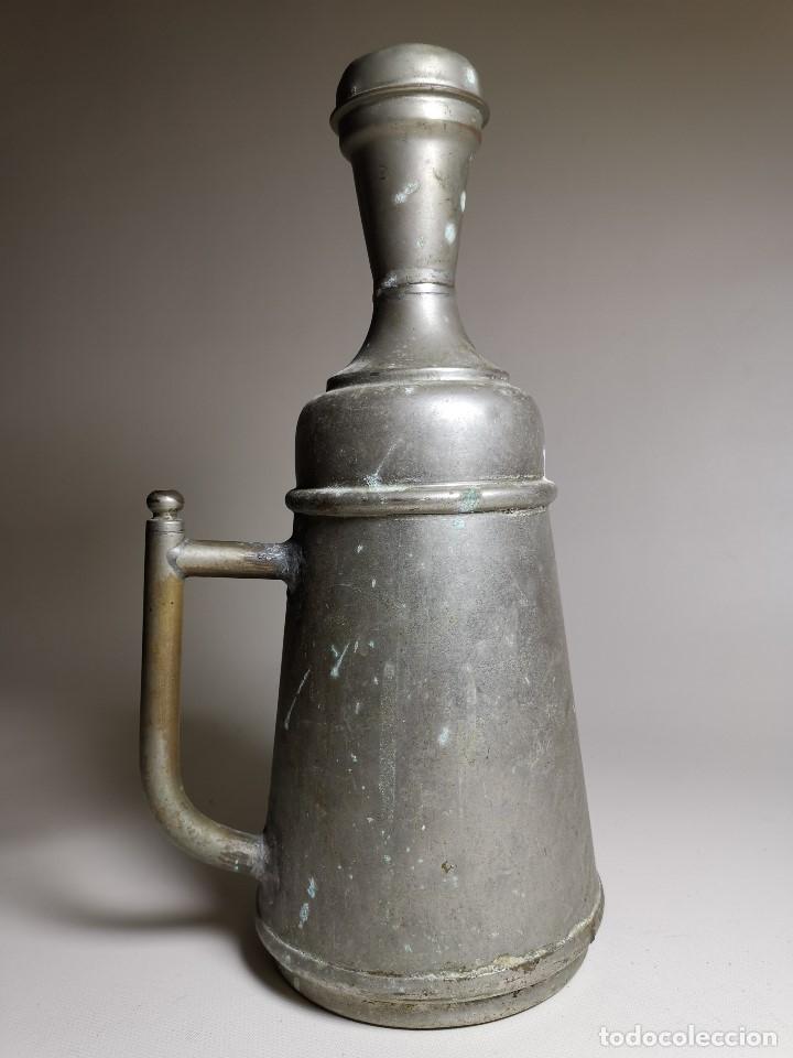 Antigüedades: BARBERÍA JARRA PARA AGUA DE LAVARCABEZAS METAL ALREDEDORES DEL AÑO 1800 BARBERO PELUQUERÍA , - Foto 13 - 179335096