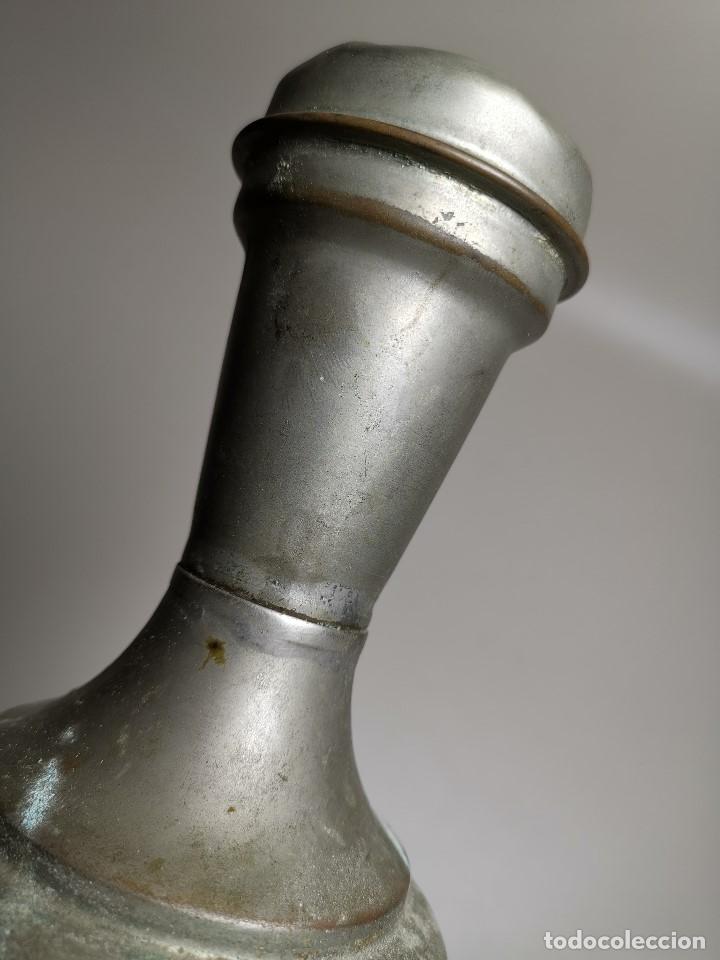 Antigüedades: BARBERÍA JARRA PARA AGUA DE LAVARCABEZAS METAL ALREDEDORES DEL AÑO 1800 BARBERO PELUQUERÍA , - Foto 22 - 179335096