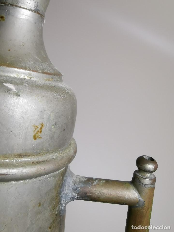 Antigüedades: BARBERÍA JARRA PARA AGUA DE LAVARCABEZAS METAL ALREDEDORES DEL AÑO 1800 BARBERO PELUQUERÍA , - Foto 23 - 179335096