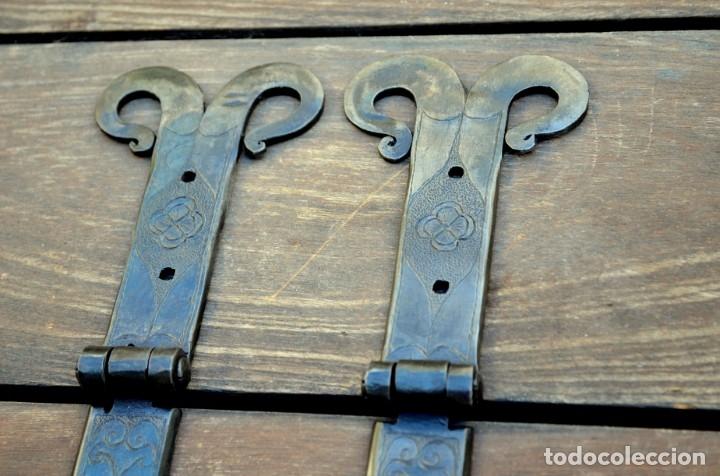 Antigüedades: Bisagras de arca o puerta rustica para restauración de mobiliario - Foto 3 - 176832960