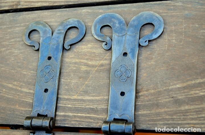 Antigüedades: Bisagras de arca o puerta rustica para restauración de mobiliario - Foto 4 - 176832960