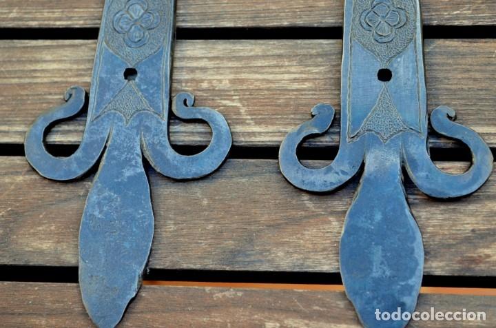 Antigüedades: Bisagras de arca o puerta rustica para restauración de mobiliario - Foto 7 - 176832960
