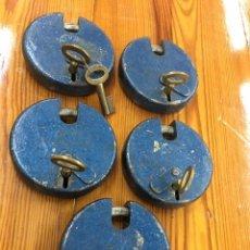 Antigüedades: CINCO CANDADOS RUE. Lote 180033147