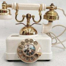 Teléfonos: TELÉFONO ELASA FABRICADO PARA LA CTNE. COLOR EN BAQUELITA Y BRONCE-LATON. BUEN ESTADO. Lote 180075217