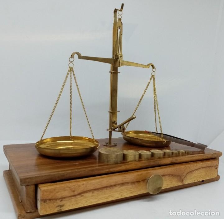 BALANZA NAUTICA DE PRECISION EN ESTUCHE DE MADERA (Antigüedades - Técnicas - Medidas de Peso - Balanzas Antiguas)