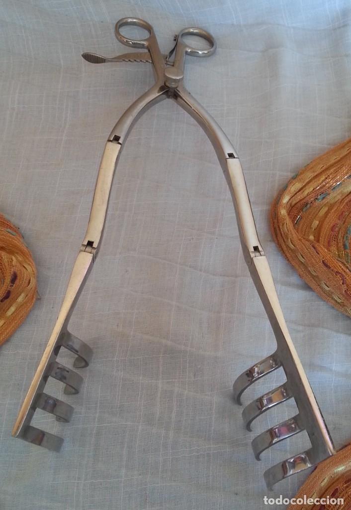 Antigüedades: Pinzas, fórceps. Instrumental quirúrgico. - Foto 3 - 180114451