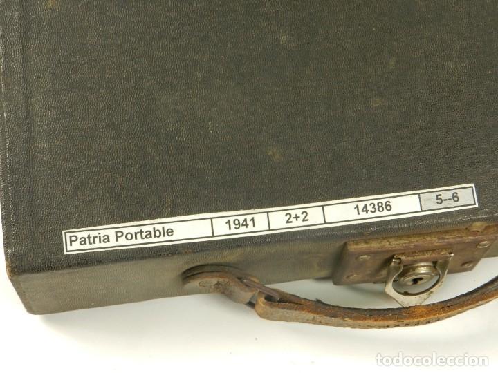 Antigüedades: MAQUINA DE ESCRIBIR PATRIA AÑO 1936 TYPEWRITER SCRHEIBMASCHINE - Foto 11 - 180117648