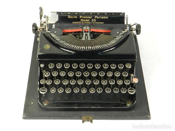 Antigüedades: MAQUINA DE ESCRIBIR SMITH PREMIER MODEL 35 AÑO 1935 TYPEWRITER SCRHEIBMASCHINE - Foto 2 - 180118042