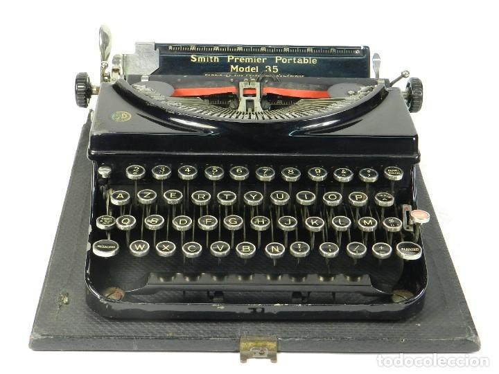 Antigüedades: MAQUINA DE ESCRIBIR SMITH PREMIER MODEL 35 AÑO 1935 TYPEWRITER SCRHEIBMASCHINE - Foto 3 - 180118042