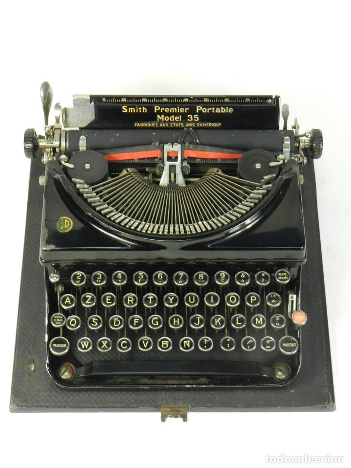 Antigüedades: MAQUINA DE ESCRIBIR SMITH PREMIER MODEL 35 AÑO 1935 TYPEWRITER SCRHEIBMASCHINE - Foto 4 - 180118042