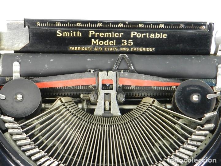 Antigüedades: MAQUINA DE ESCRIBIR SMITH PREMIER MODEL 35 AÑO 1935 TYPEWRITER SCRHEIBMASCHINE - Foto 5 - 180118042