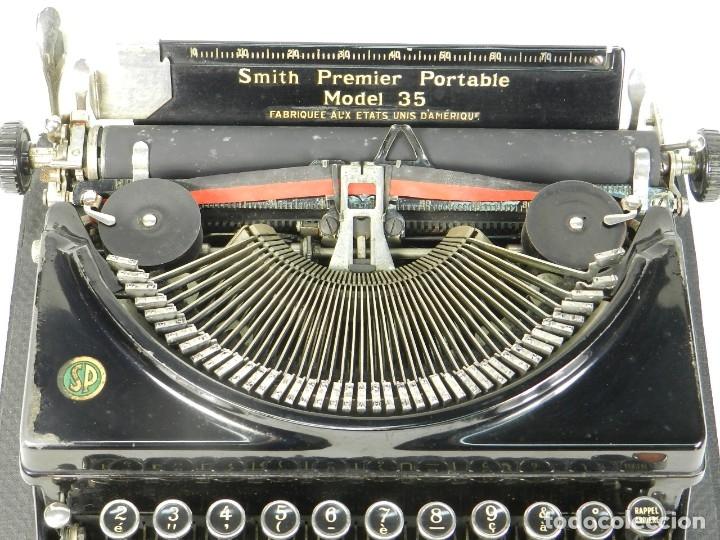 Antigüedades: MAQUINA DE ESCRIBIR SMITH PREMIER MODEL 35 AÑO 1935 TYPEWRITER SCRHEIBMASCHINE - Foto 6 - 180118042