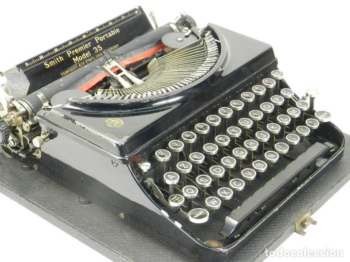 Antigüedades: MAQUINA DE ESCRIBIR SMITH PREMIER MODEL 35 AÑO 1935 TYPEWRITER SCRHEIBMASCHINE - Foto 8 - 180118042