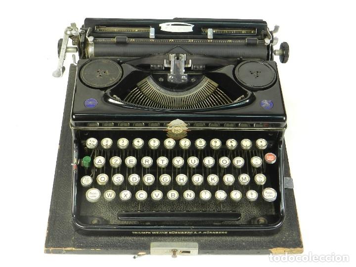 Antigüedades: MAQUINA DE ESCRIBIR TRIUMPH NORM 6 AÑO 1940 TYPEWRITER SCRHEIBMASCHINE - Foto 3 - 180118396
