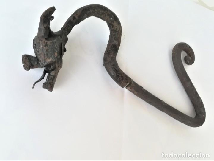 Antigüedades: ANTIGUO DRAGON GOTICO SIGLO XIX,MODERNISTA EN FORJA DE HIERRO,CATALUÑA,EPOCA ARQUITECTO ANTONI GAUDI - Foto 5 - 180123470
