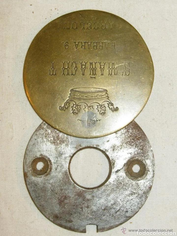 Antigüedades: MIRILLA PRINCIPIO SIGLO XX BRONCE BUEN ESTADO - Foto 2 - 180173952