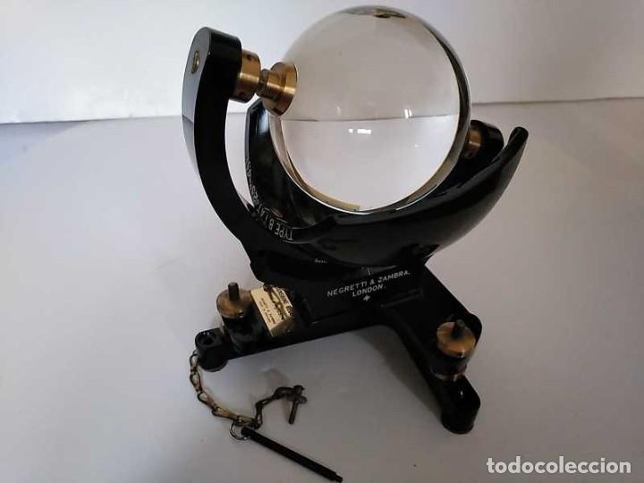Antigüedades: HELIOGRAFO CAMPBELL STOKES SUNSHINE RECORDER NEGRETTI & ZAMBRA LONDON GRABADOR DE LUZ SOLAR HELIOGRA - Foto 6 - 180193120