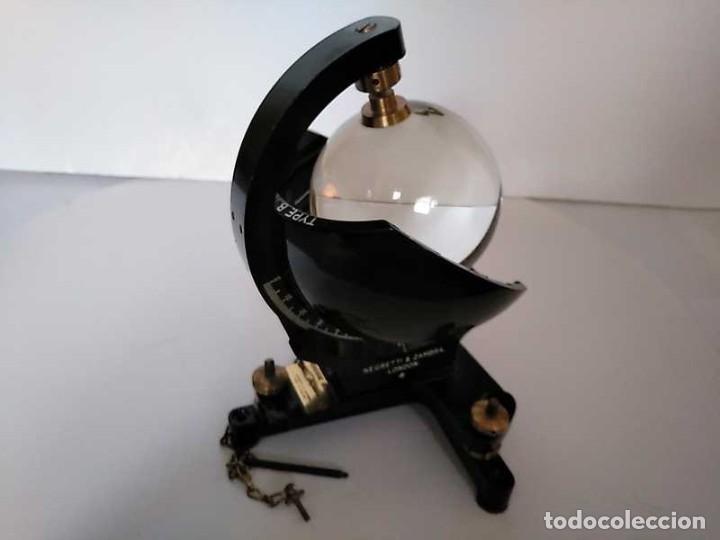 Antigüedades: HELIOGRAFO CAMPBELL STOKES SUNSHINE RECORDER NEGRETTI & ZAMBRA LONDON GRABADOR DE LUZ SOLAR HELIOGRA - Foto 7 - 180193120
