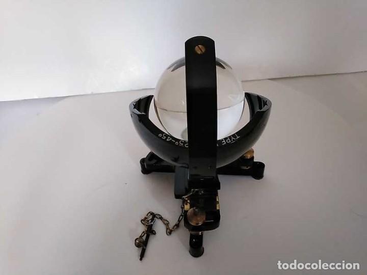 Antigüedades: HELIOGRAFO CAMPBELL STOKES SUNSHINE RECORDER NEGRETTI & ZAMBRA LONDON GRABADOR DE LUZ SOLAR HELIOGRA - Foto 10 - 180193120