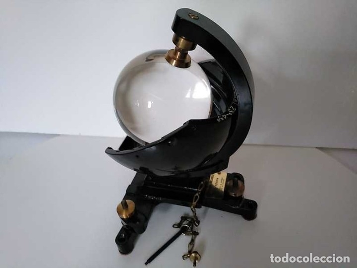 Antigüedades: HELIOGRAFO CAMPBELL STOKES SUNSHINE RECORDER NEGRETTI & ZAMBRA LONDON GRABADOR DE LUZ SOLAR HELIOGRA - Foto 13 - 180193120