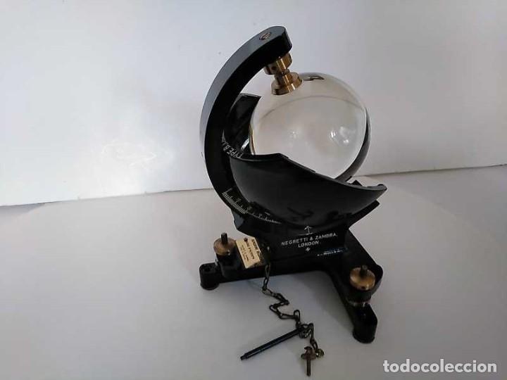 Antigüedades: HELIOGRAFO CAMPBELL STOKES SUNSHINE RECORDER NEGRETTI & ZAMBRA LONDON GRABADOR DE LUZ SOLAR HELIOGRA - Foto 14 - 180193120