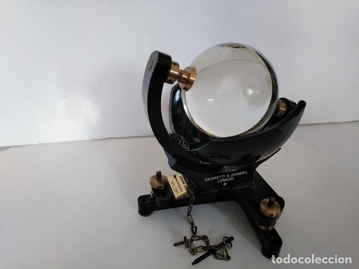Antigüedades: HELIOGRAFO CAMPBELL STOKES SUNSHINE RECORDER NEGRETTI & ZAMBRA LONDON GRABADOR DE LUZ SOLAR HELIOGRA - Foto 15 - 180193120