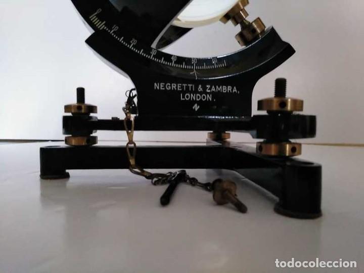 Antigüedades: HELIOGRAFO CAMPBELL STOKES SUNSHINE RECORDER NEGRETTI & ZAMBRA LONDON GRABADOR DE LUZ SOLAR HELIOGRA - Foto 17 - 180193120