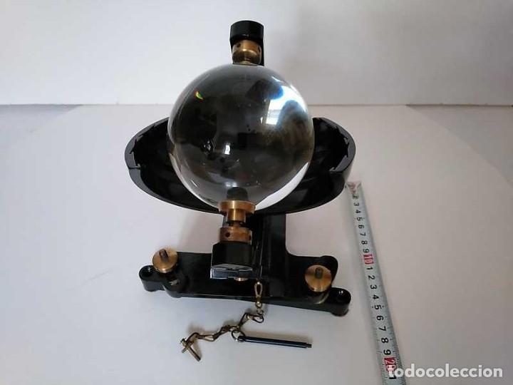 Antigüedades: HELIOGRAFO CAMPBELL STOKES SUNSHINE RECORDER NEGRETTI & ZAMBRA LONDON GRABADOR DE LUZ SOLAR HELIOGRA - Foto 29 - 180193120