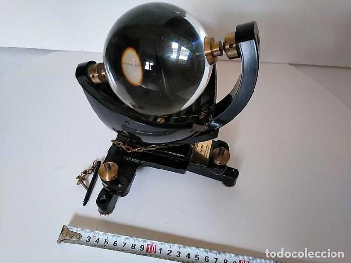 Antigüedades: HELIOGRAFO CAMPBELL STOKES SUNSHINE RECORDER NEGRETTI & ZAMBRA LONDON GRABADOR DE LUZ SOLAR HELIOGRA - Foto 41 - 180193120