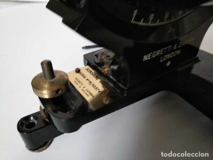 Antigüedades: HELIOGRAFO CAMPBELL STOKES SUNSHINE RECORDER NEGRETTI & ZAMBRA LONDON GRABADOR DE LUZ SOLAR HELIOGRA - Foto 48 - 180193120