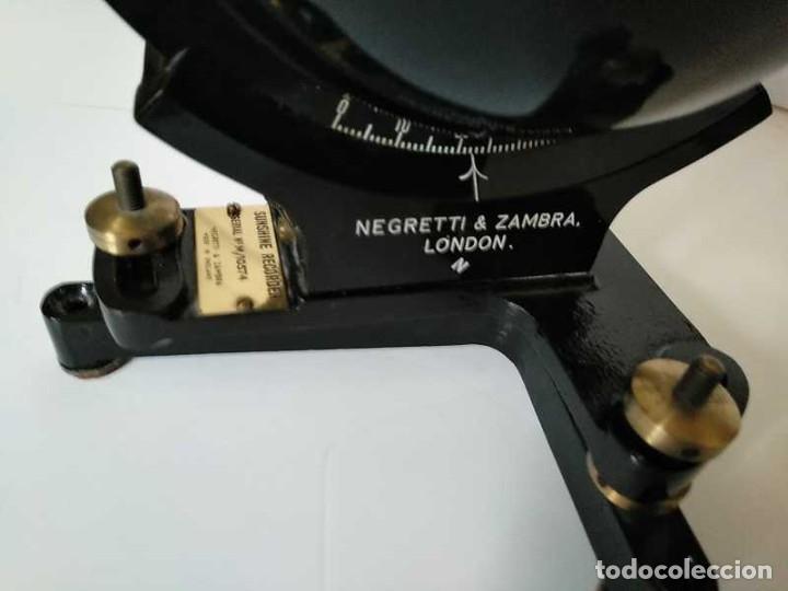 Antigüedades: HELIOGRAFO CAMPBELL STOKES SUNSHINE RECORDER NEGRETTI & ZAMBRA LONDON GRABADOR DE LUZ SOLAR HELIOGRA - Foto 50 - 180193120