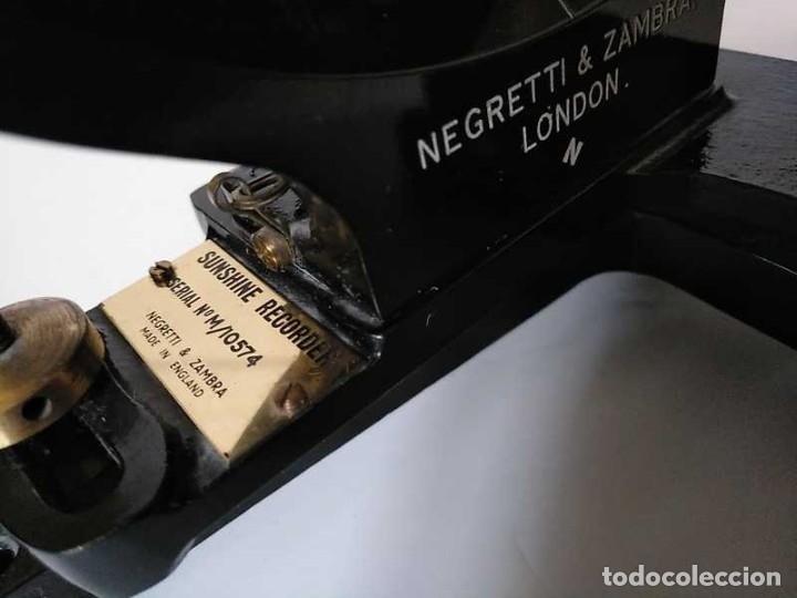 Antigüedades: HELIOGRAFO CAMPBELL STOKES SUNSHINE RECORDER NEGRETTI & ZAMBRA LONDON GRABADOR DE LUZ SOLAR HELIOGRA - Foto 51 - 180193120