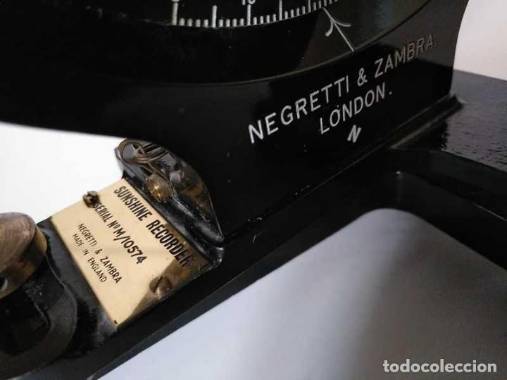 Antigüedades: HELIOGRAFO CAMPBELL STOKES SUNSHINE RECORDER NEGRETTI & ZAMBRA LONDON GRABADOR DE LUZ SOLAR HELIOGRA - Foto 52 - 180193120