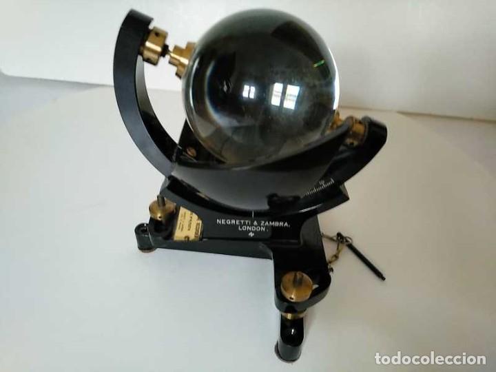 Antigüedades: HELIOGRAFO CAMPBELL STOKES SUNSHINE RECORDER NEGRETTI & ZAMBRA LONDON GRABADOR DE LUZ SOLAR HELIOGRA - Foto 53 - 180193120