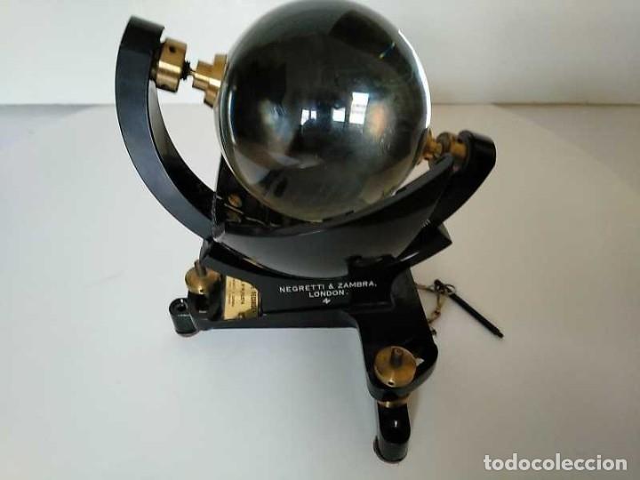 Antigüedades: HELIOGRAFO CAMPBELL STOKES SUNSHINE RECORDER NEGRETTI & ZAMBRA LONDON GRABADOR DE LUZ SOLAR HELIOGRA - Foto 54 - 180193120
