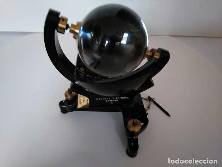 Antigüedades: HELIOGRAFO CAMPBELL STOKES SUNSHINE RECORDER NEGRETTI & ZAMBRA LONDON GRABADOR DE LUZ SOLAR HELIOGRA - Foto 55 - 180193120