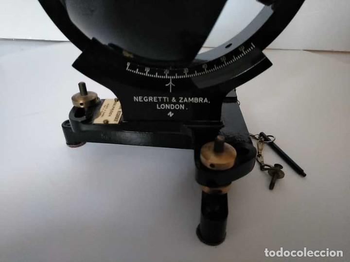 Antigüedades: HELIOGRAFO CAMPBELL STOKES SUNSHINE RECORDER NEGRETTI & ZAMBRA LONDON GRABADOR DE LUZ SOLAR HELIOGRA - Foto 56 - 180193120