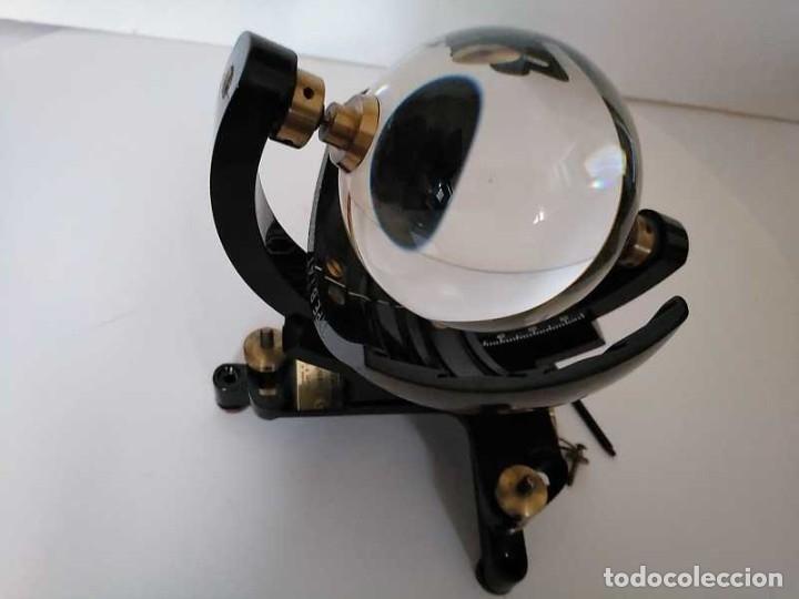 Antigüedades: HELIOGRAFO CAMPBELL STOKES SUNSHINE RECORDER NEGRETTI & ZAMBRA LONDON GRABADOR DE LUZ SOLAR HELIOGRA - Foto 57 - 180193120