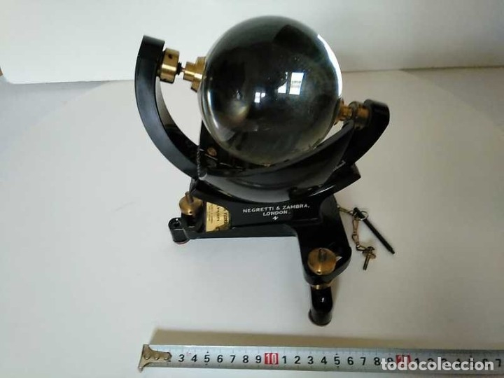 Antigüedades: HELIOGRAFO CAMPBELL STOKES SUNSHINE RECORDER NEGRETTI & ZAMBRA LONDON GRABADOR DE LUZ SOLAR HELIOGRA - Foto 59 - 180193120
