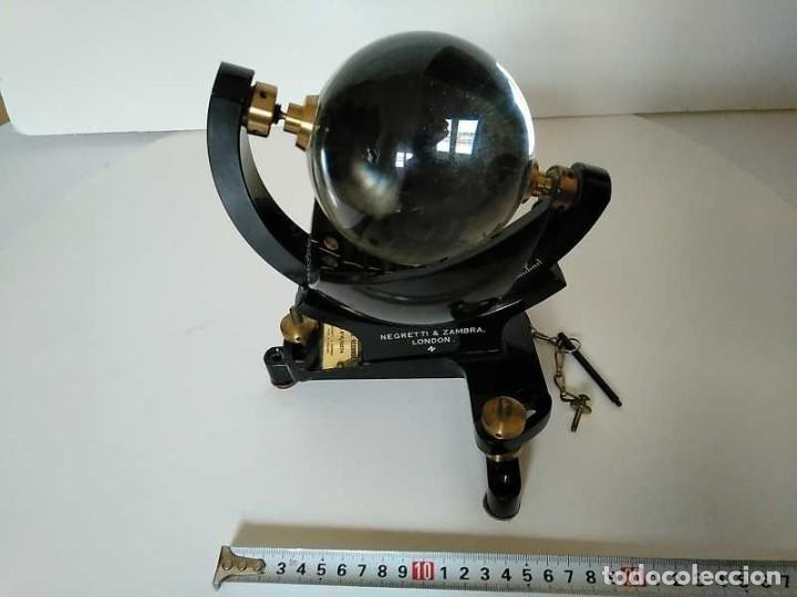 Antigüedades: HELIOGRAFO CAMPBELL STOKES SUNSHINE RECORDER NEGRETTI & ZAMBRA LONDON GRABADOR DE LUZ SOLAR HELIOGRA - Foto 60 - 180193120