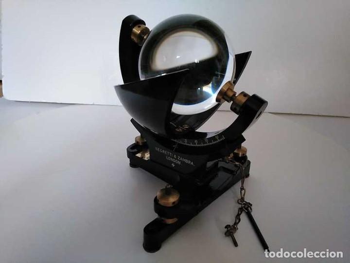 Antigüedades: HELIOGRAFO CAMPBELL STOKES SUNSHINE RECORDER NEGRETTI & ZAMBRA LONDON GRABADOR DE LUZ SOLAR HELIOGRA - Foto 70 - 180193120