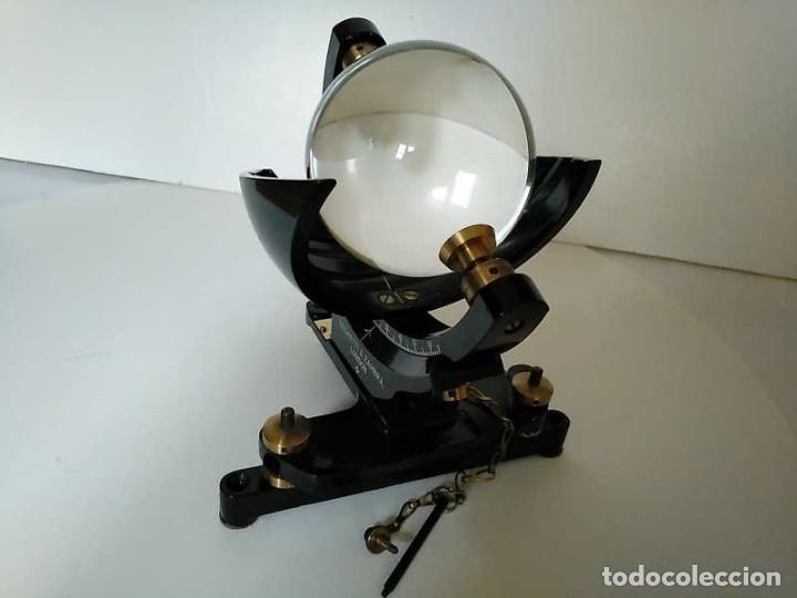 Antigüedades: HELIOGRAFO CAMPBELL STOKES SUNSHINE RECORDER NEGRETTI & ZAMBRA LONDON GRABADOR DE LUZ SOLAR HELIOGRA - Foto 72 - 180193120