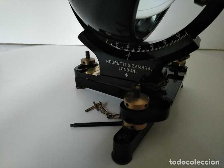 Antigüedades: HELIOGRAFO CAMPBELL STOKES SUNSHINE RECORDER NEGRETTI & ZAMBRA LONDON GRABADOR DE LUZ SOLAR HELIOGRA - Foto 75 - 180193120