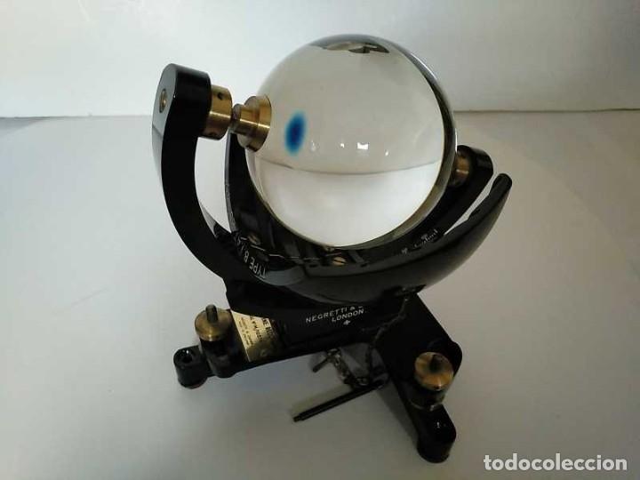 Antigüedades: HELIOGRAFO CAMPBELL STOKES SUNSHINE RECORDER NEGRETTI & ZAMBRA LONDON GRABADOR DE LUZ SOLAR HELIOGRA - Foto 78 - 180193120
