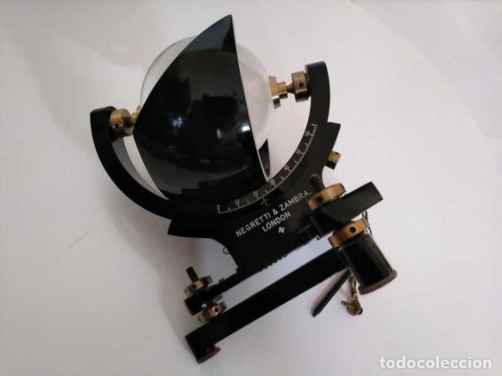 Antigüedades: HELIOGRAFO CAMPBELL STOKES SUNSHINE RECORDER NEGRETTI & ZAMBRA LONDON GRABADOR DE LUZ SOLAR HELIOGRA - Foto 82 - 180193120