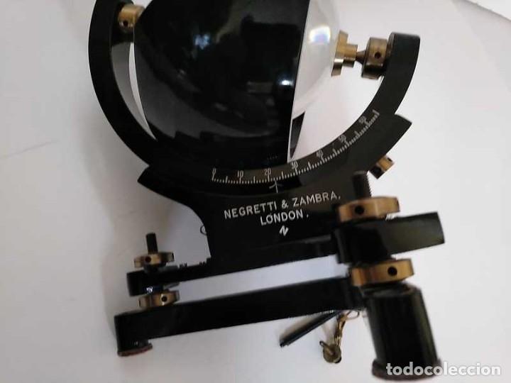 Antigüedades: HELIOGRAFO CAMPBELL STOKES SUNSHINE RECORDER NEGRETTI & ZAMBRA LONDON GRABADOR DE LUZ SOLAR HELIOGRA - Foto 83 - 180193120
