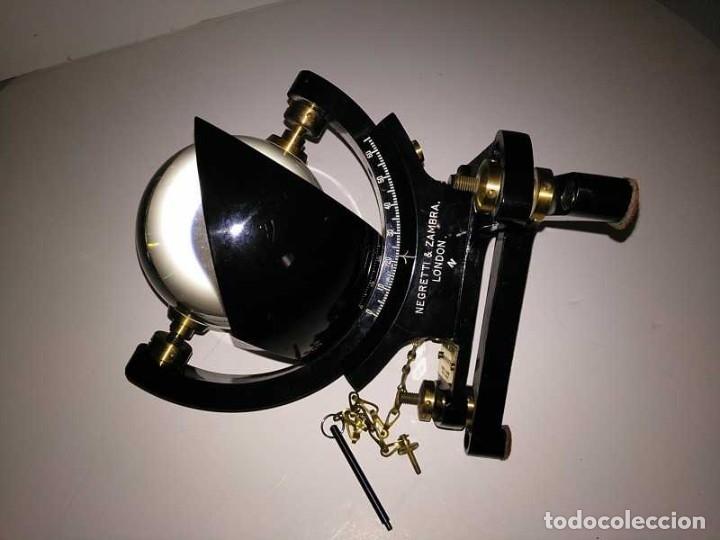 Antigüedades: HELIOGRAFO CAMPBELL STOKES SUNSHINE RECORDER NEGRETTI & ZAMBRA LONDON GRABADOR DE LUZ SOLAR HELIOGRA - Foto 94 - 180193120